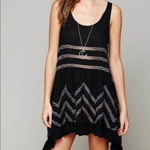 Free People Voile & Lace trapeze dot dress